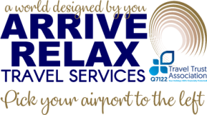 Arrive Relax Newsletter Flight Arrivals Logo
